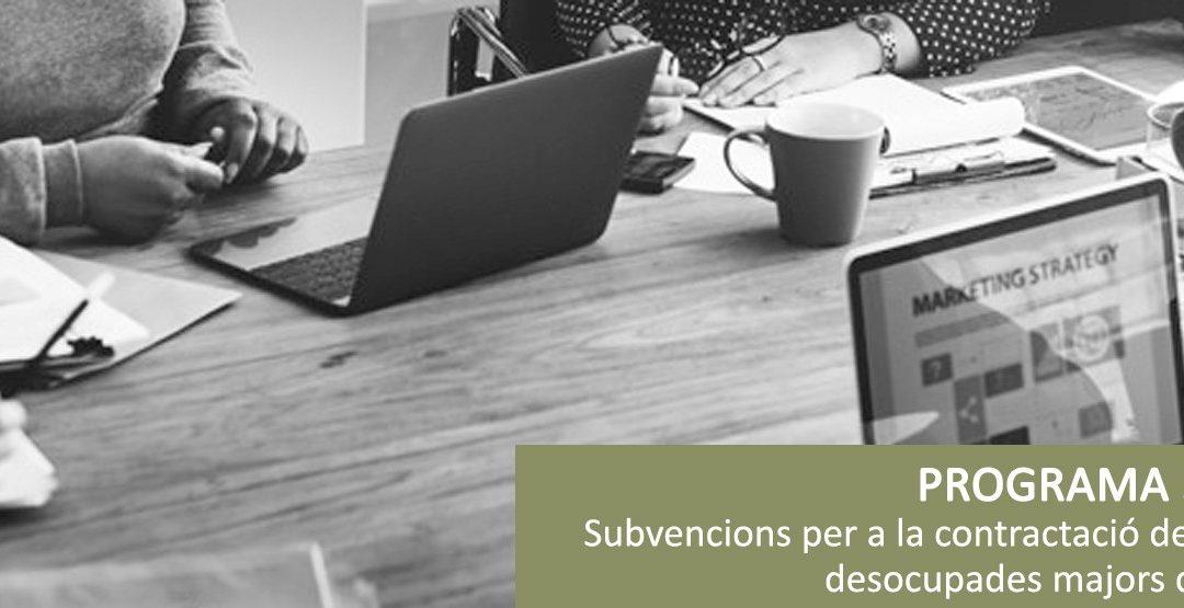 Programa 30 Plus per subvencionar contractes de treball per a persones aturades de més de 30 anys