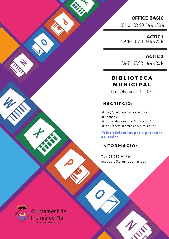 Cursos de competències TIC a l'octubre per a persones aturades