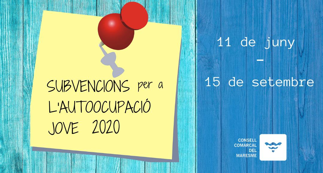 Subvencions per a l'autoocupació jove 2020
