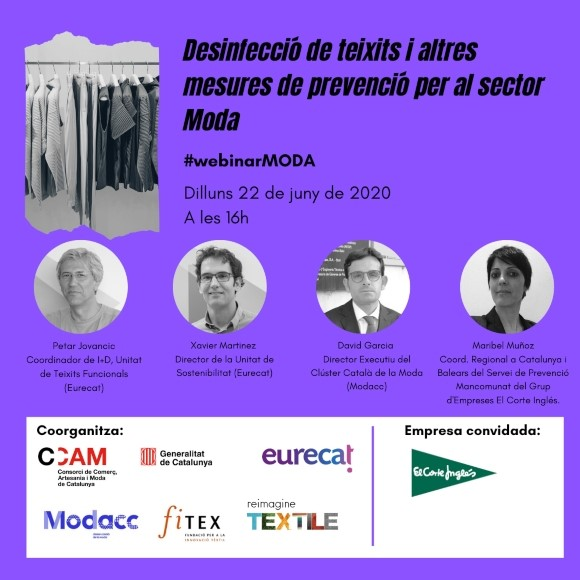 Desinfecció de teixits i altres mesures de prevenció per al sector Moda